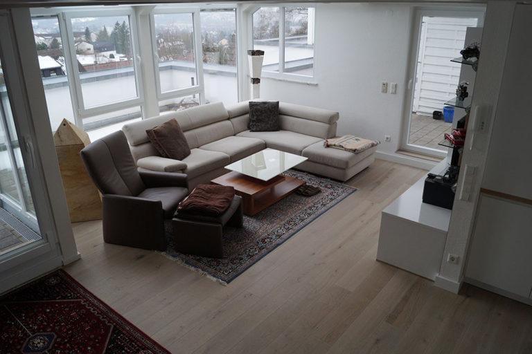 Bodenbelag im Wohnzimmer
