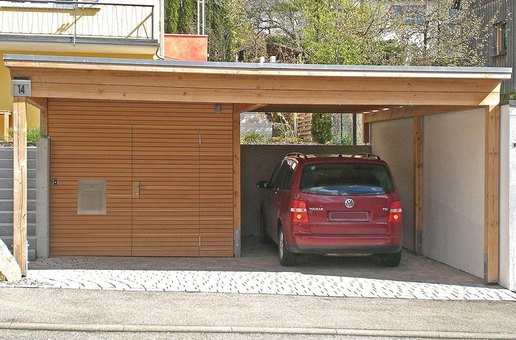 Carport mit Zugang