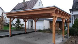 Fertiger Holz Carport