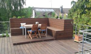 Exquisiter Sitzbereich Holz