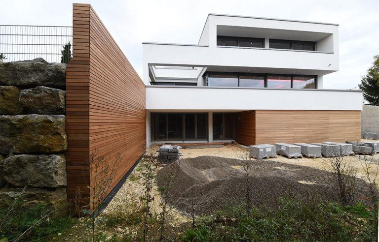 Fassade und Sichtschutz