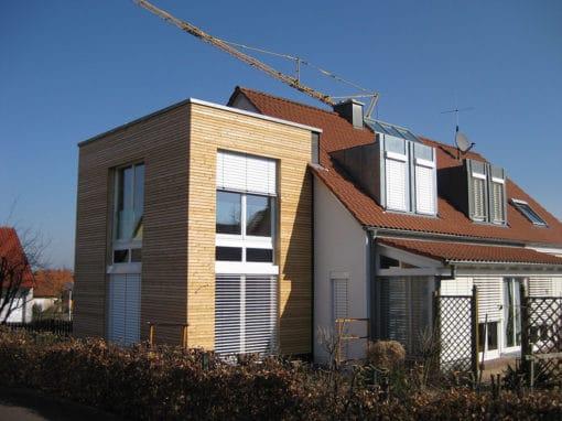 Holzfassade Anbau Haus