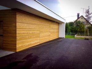 Holz Fassade Garage