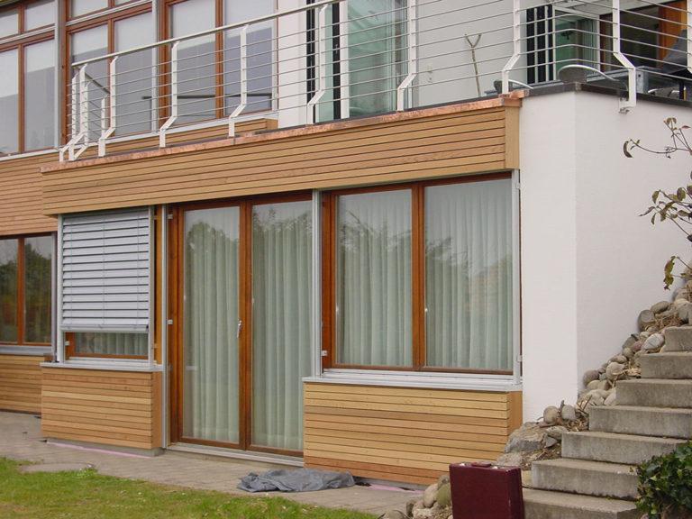 Partielle Holz Fassade
