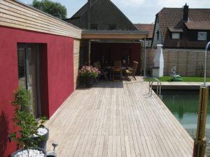 Terrasse Garten Pool