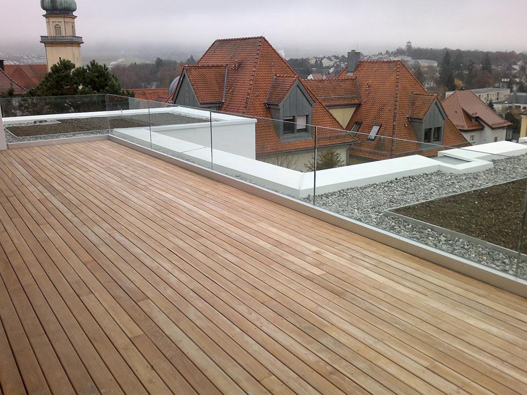 Terrassen - Fußboden Belag Parkett Laminat Vinyl Kork