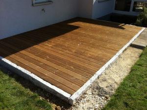 Fertige Holz Terrasse