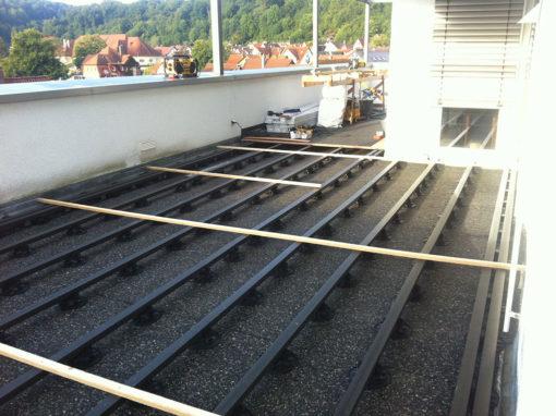 Baustart Terrasse Balkon