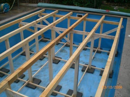 Unterbau Holz Terrasse