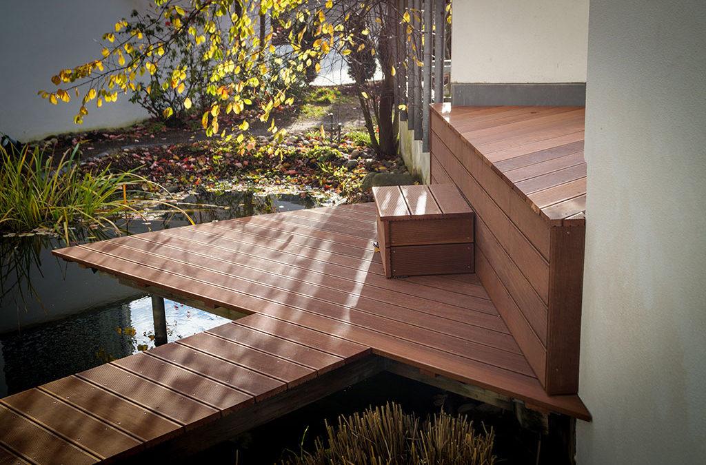 Terrasse mit Treppenstufen