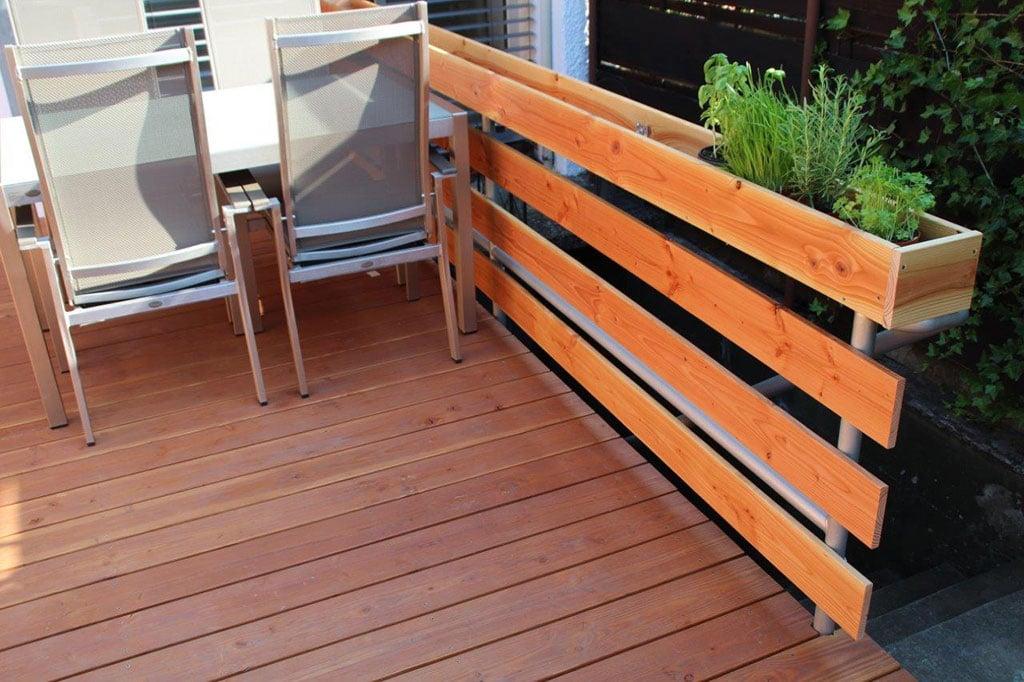 terrasse und gel nder fu boden belag parkett laminat vinyl kork. Black Bedroom Furniture Sets. Home Design Ideas