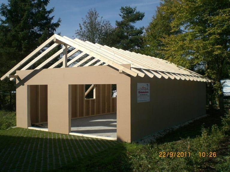 Bau Überdachung Garage