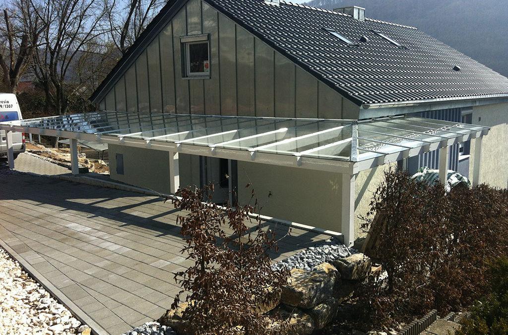 Überdachung Haus Glas
