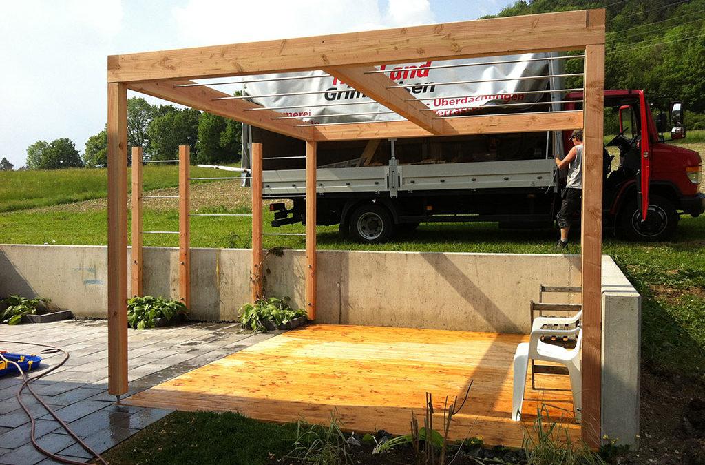 Überdachung Garten Holz