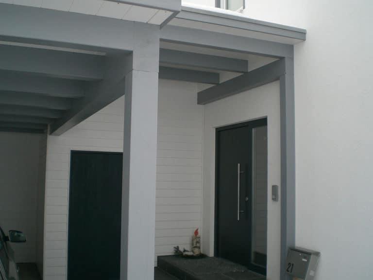 Grimmeisen Überdachung Hauseingang