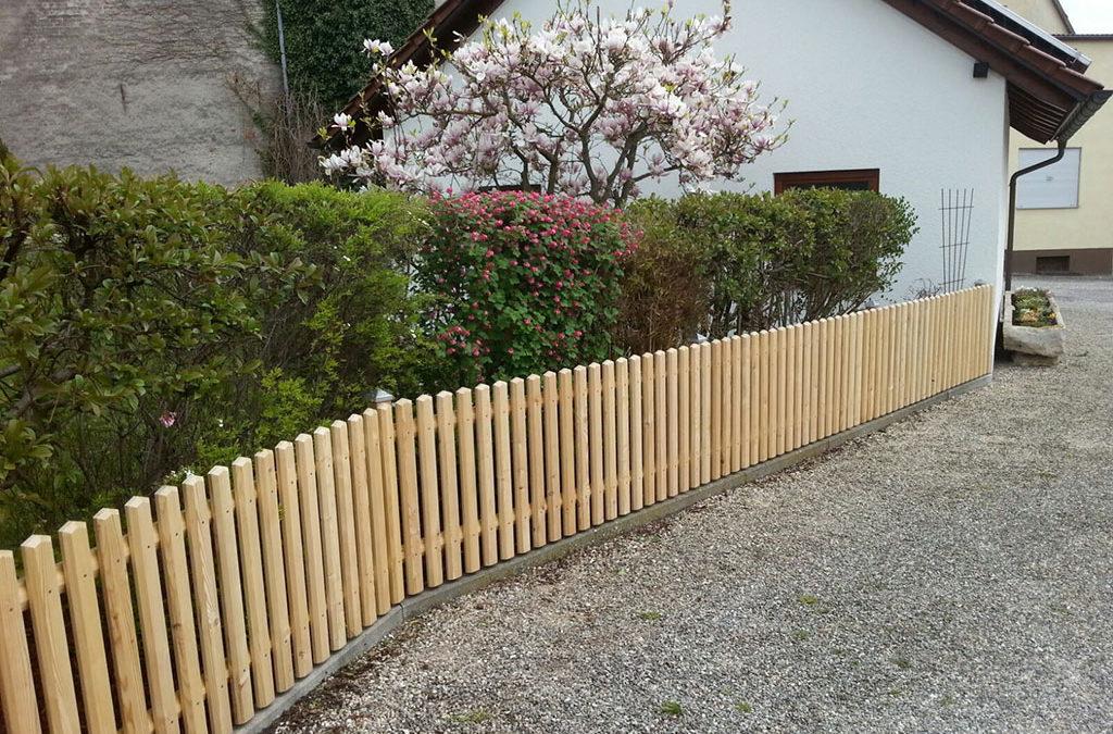 Zaun Garten Holz